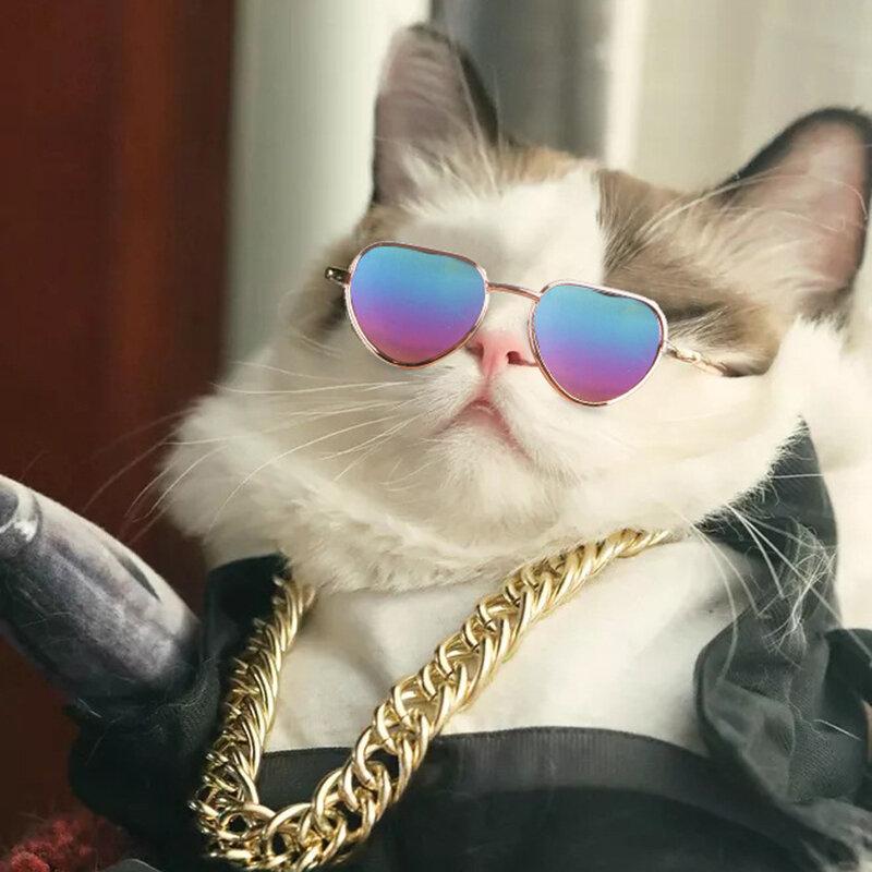 6 ألوان جميلة القط الحيوانات الأليفة النظارات الشمسية لطيف العين ارتداء الحيوانات الأليفة النظارات الشمسية كول الحيوانات الأليفة صور الدعا...