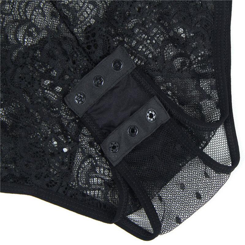 SEBOWEL-بذلة من الدانتيل الزهري ، ملابس صيفية بدون أكمام ، رقبة على شكل V ، نمط خليط ، منقطة