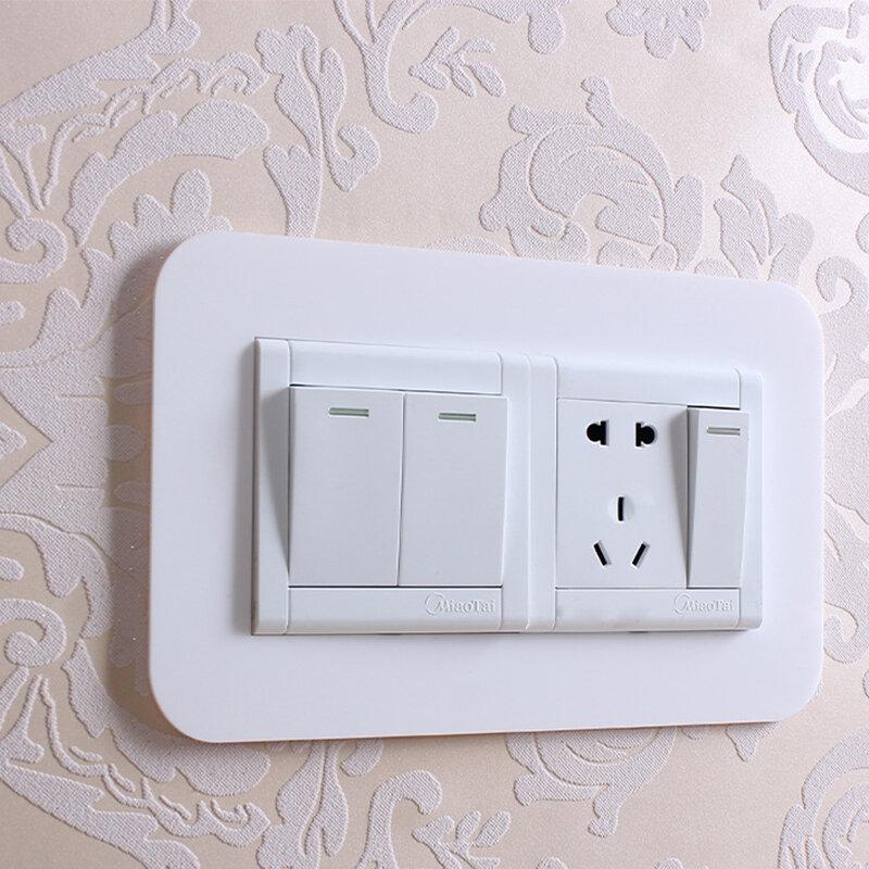 بسيطة مكافحة القذرة مشبك نوع غير لاصق التبديل الغطاء الواقي المخرج الجدار ملصق ل غرفة المعيشة المنزلي الغبار واقية