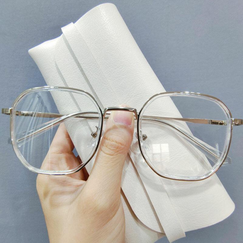 موضة العلامة التجارية الضوء الأزرق حجب النظارات النساء الرجال حماية العين الكمبيوتر UV400 نظارات مكافحة الأشعة الزرقاء الذهبي إطار معدني