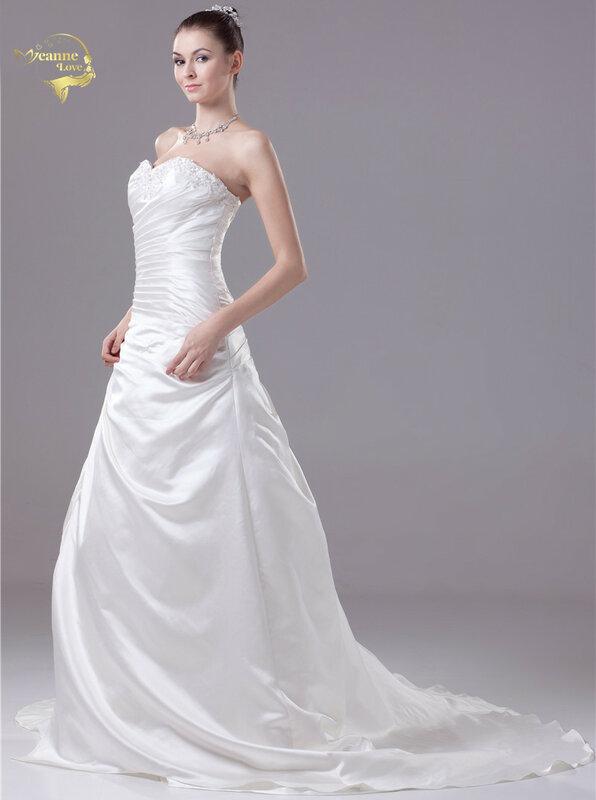 2020 جديد وصول موضة فساتين زفاف خمر Bruidsjurken فساتين زفاف الساتان حجم كبير رداء دي Mariage سريع شحن مجاني