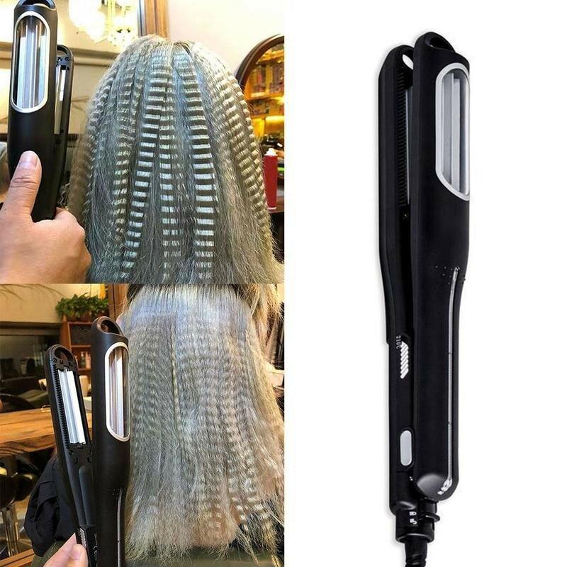 تموج حديد مسطح بكرة شعر تلقائية الشباك الحديد بكرات الشعر المهنية الحديد مجعد رادع ماجيك ملقط ملقط Z1N8