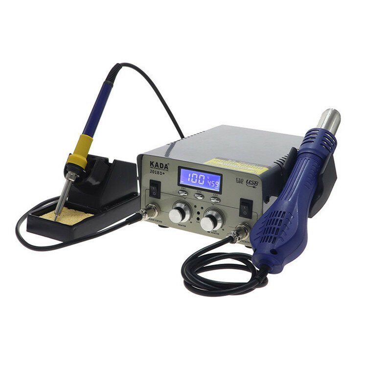 كادا 2018D كهربائي ساخن مسدس هواء ثنائي في واحد شاشة ديجيتال ديسولديرينغ محطة إصلاح الهاتف المحمول لحام