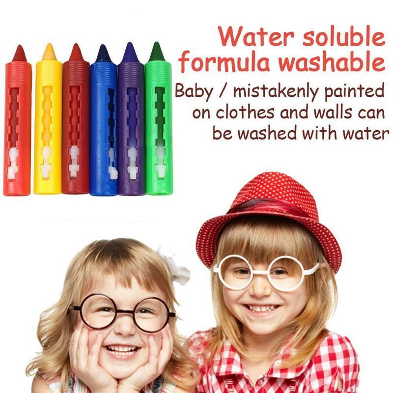 6 قطعة/المجموعة الحمام الطباشير غسلها اللون سهلة لمحو الطباشير القلم اللوحة الفن اللون اللوحة الإبداعية ل إمدادات الكتابة على الجدران H0P5