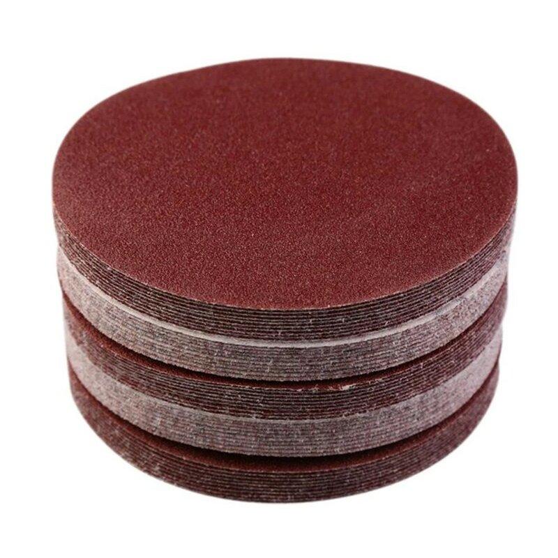 20 قطعة الصنفرة الصنفرة 3in/75 مللي متر الألومينا للمعادن الخشب سيارة تلميع هوك وحلقة ساندر