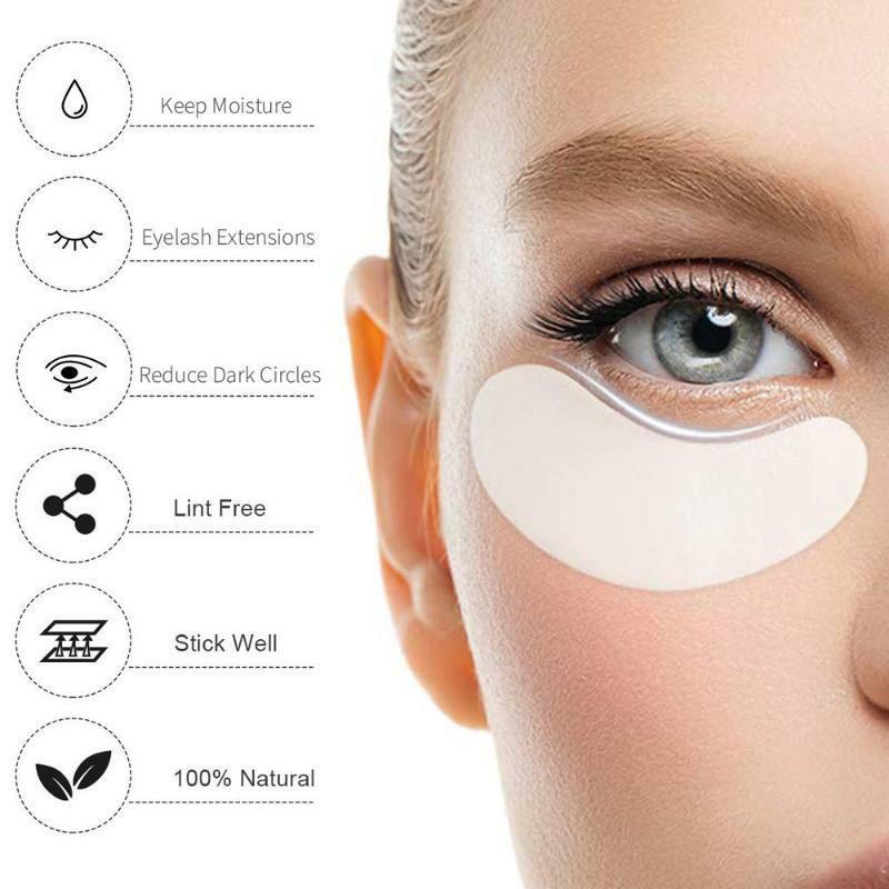 200 pairs رمش تمديد لوازم ورقة بقع تطعيم العين ملصقات تحت رفادة عين العين نصائح ملصق لاش العين