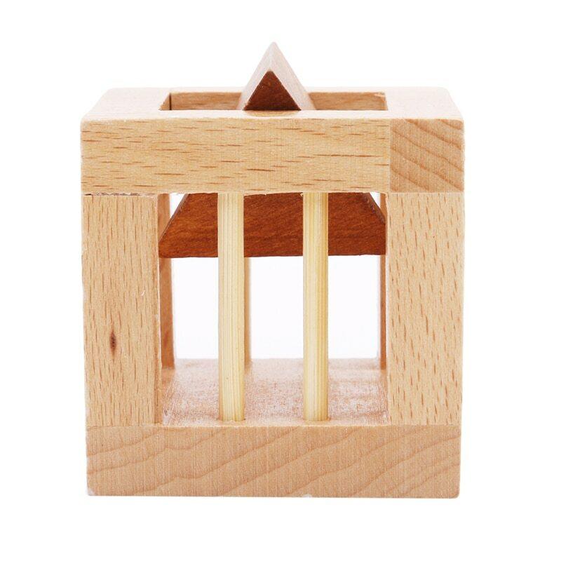 Genius-ألغاز قفل خشب الزان ، ألعاب تعليمية خشبية للأطفال والكبار ، تتخيل تنمية الألعاب الذكية