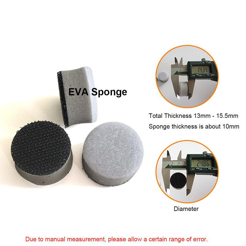 1 بوصة 25 مللي متر عالية الكثافة واجهة سادة إيفا الإسفنج حشوة وسادة هوك حلقة الرملي أقراص العازلة الإسفنج لتلميع سطح متفاوتة