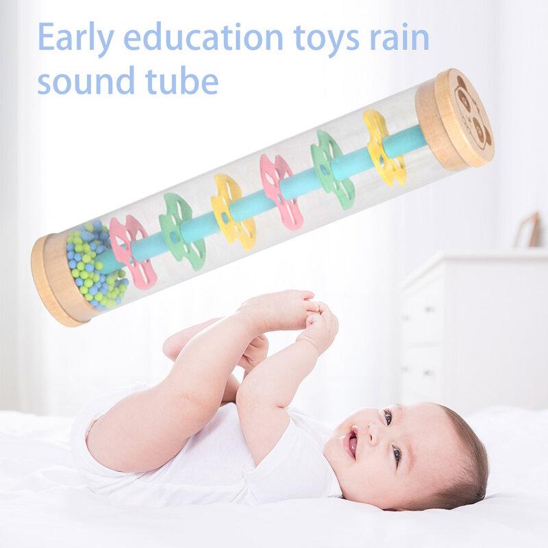 1 قطعة الاطفال المطر المطر Rainmaker دمية موسيقية قطرة المطر الصوت للأطفال المطر عصا الأطفال التعليمية أداة لعبة