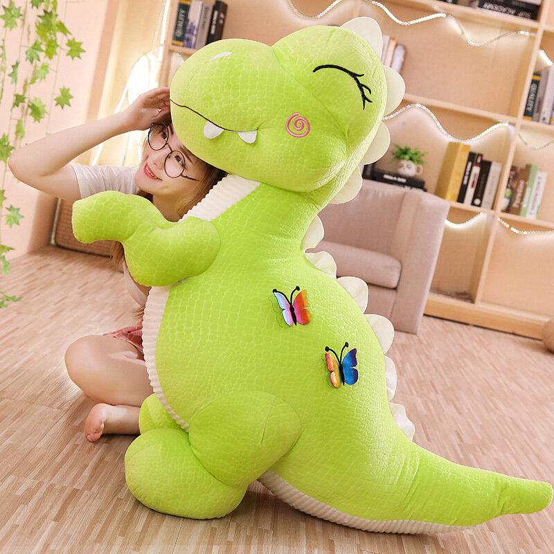 ديناصور قطيفة من 30 إلى 70 سنتيمتر ، لعبة لطيفة ، وسادة نوم طويلة ، غرفة نوم ، دمى كبيرة ، لصديقته ، هدية عيد ميلاد