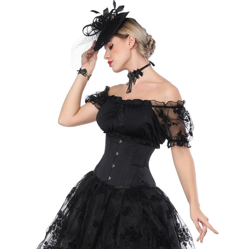 مشد تحت الصدر على الطراز القوطي ، مشد الخصر ، مشد Steampunk ، بوستير ، ملابس داخلية مثيرة ، ملابس داخلية للتنحيف