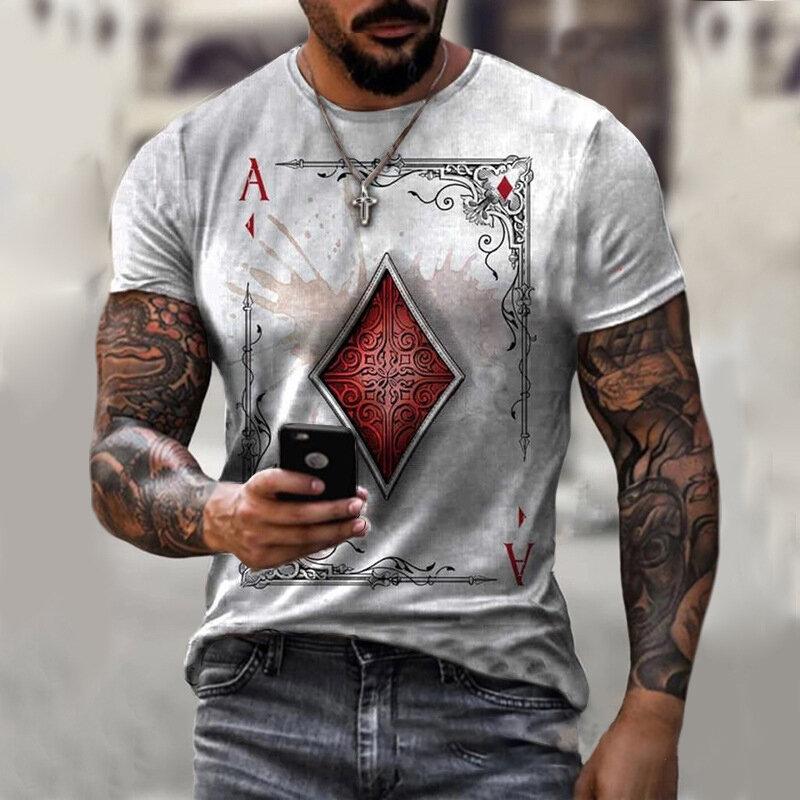 2021 جديد الصيف كول بوكر ثلاثية الأبعاد طباعة تي شيرت موضة ملابس الشارع عادية تي شيرت للرجال التجفيف السريع بلوزات كبيرة الحجم