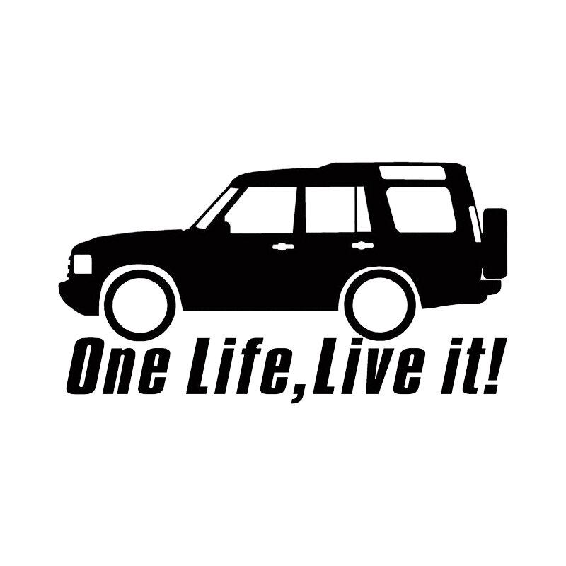 OFK حياة واحدة لايف It لاند ديسكفري ملصقات السيارات 4x4 قبالة الطريق اكسسوارات السيارات jdm الخلفية نافذة ملصق لاصق لامع ورائع ملصقات اكسسوارات