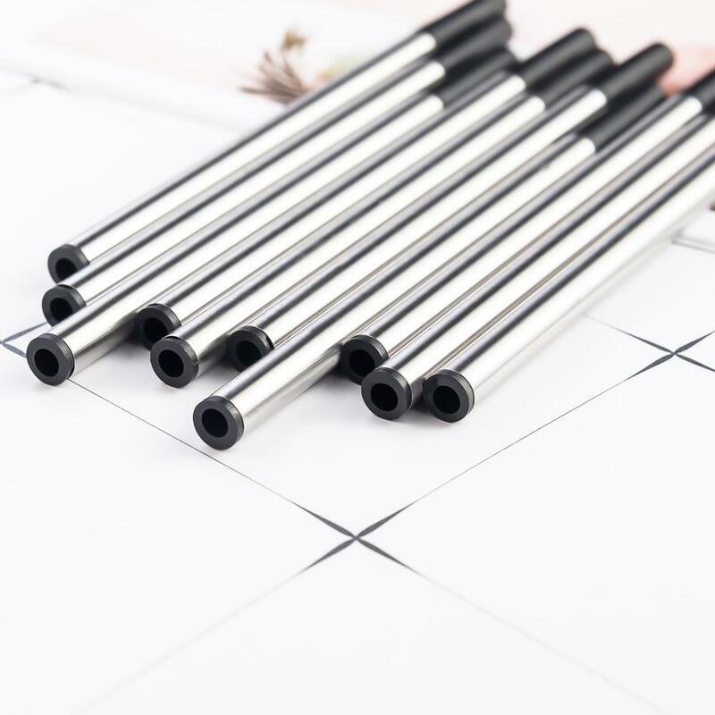 20 قطعة/الوحدة المعادن جل القلم الملء 0.5 مللي متر الأزرق الأسود توقيع الحبر الغيارات مكتب المدرسة القرطاسية الكتابة لوازم