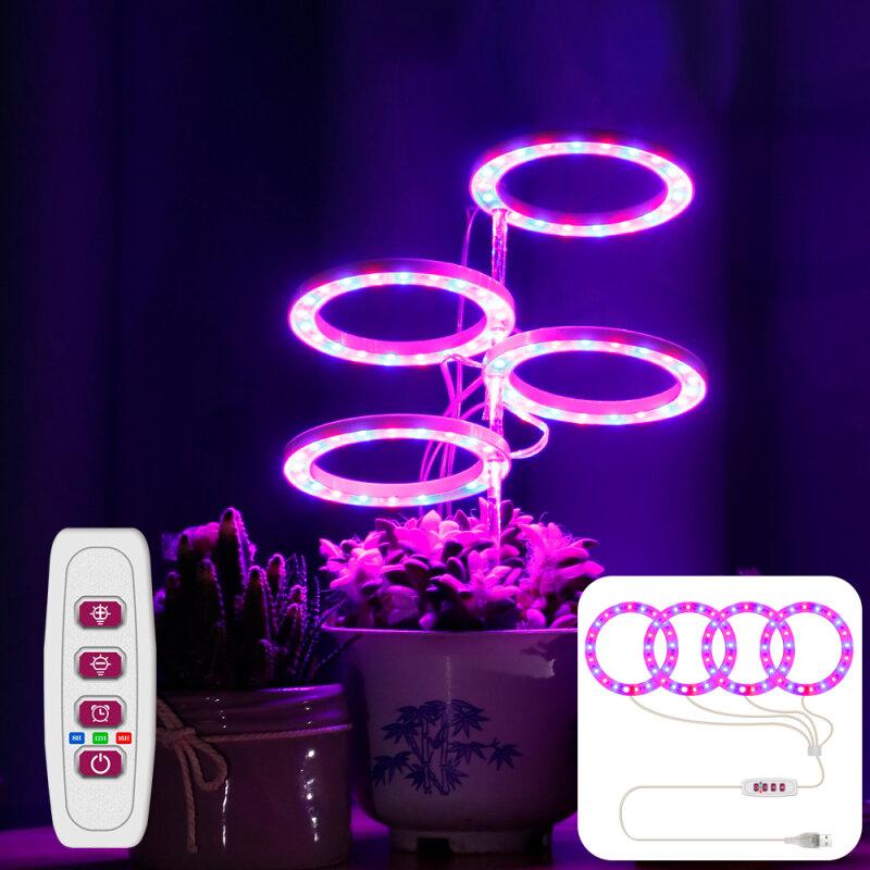 LED النبات تنمو ضوء الطيف الكامل فيتو تنمو شريط مصابيح USB Phytolamp للنباتات أضواء داخلي زهرة الشتلات النمو الإضاءة