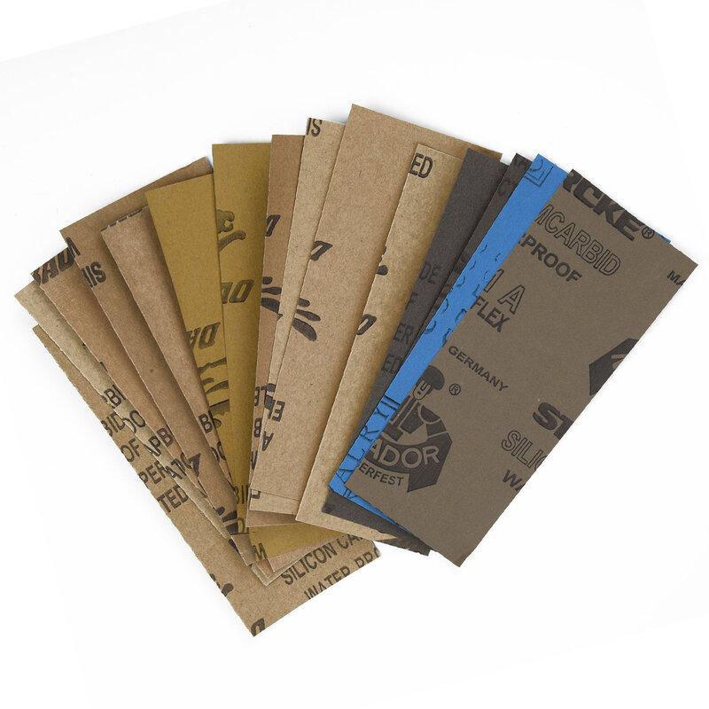 جديد 15 قطعة الصنفرة الرطب الجاف استخدام متنوعة الرمال الصفحات الورقية الرئيسية الخشنة 150-7000 حصى تلميع سيارة الزجاج المعدني الخشب الصنفرة