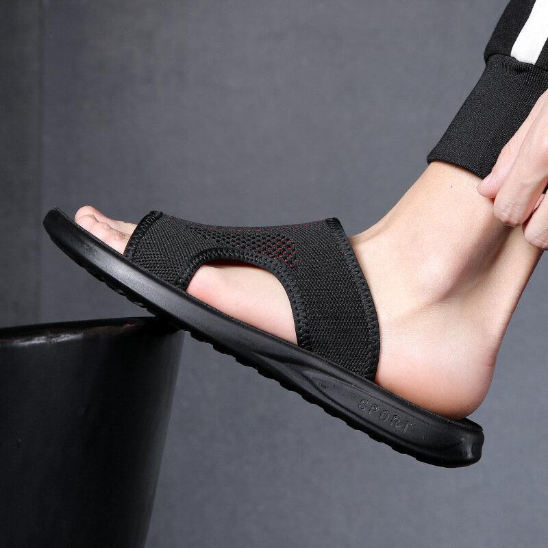 Coslony الصنادل الرجال 2021 العلامة التجارية الفاخرة شبشب رجالي الصيف شبكة في الهواء الطلق تنفس أحذية الوجه يتخبط أحذية أنيقة الشرائح للرجال