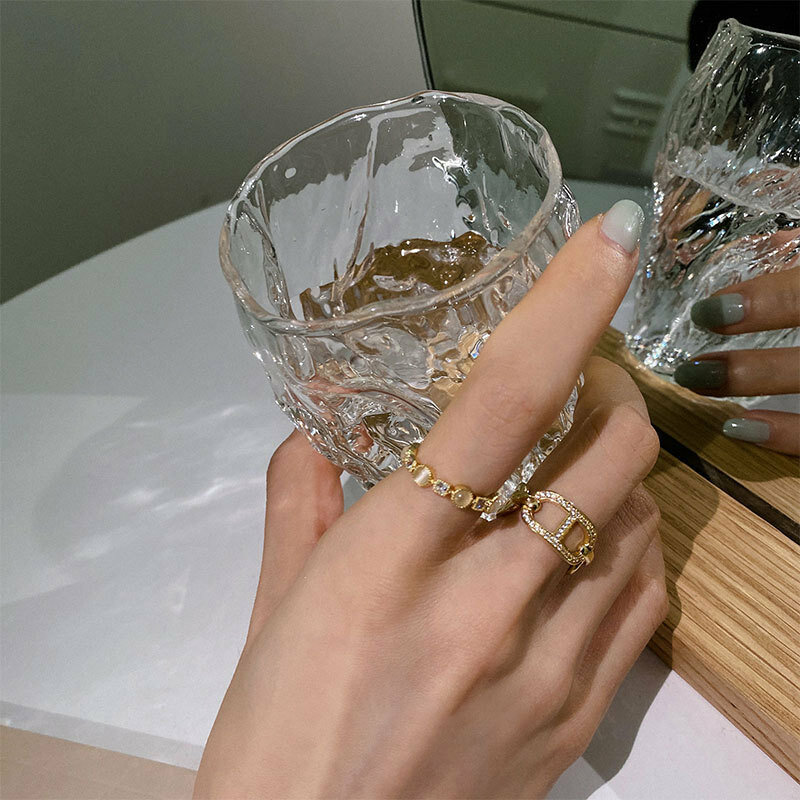 VENTFILLE 925 فضة جديد عصري خنزير الأنف القط العين حجر الماس حلقة مفتوحة الإناث شخصية الموضة المتخصصة تصميم