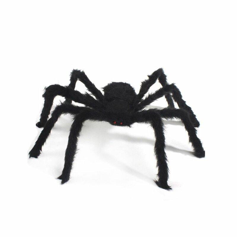 هالوين العملاق العنكبوت زينة 75 سنتيمتر كبيرة وهمية العنكبوت واقعية مخيف المزحة الدعائم ل داخلي في الهواء الطلق ساحة ديكور الحفلات
