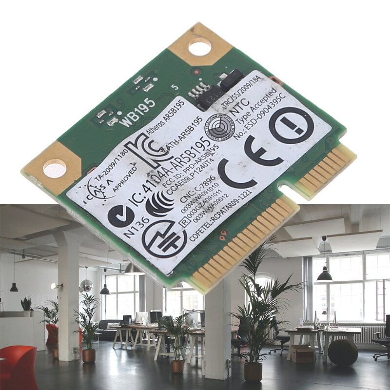 بطاقة الشبكة لديل Dw1702 Atheros Ar5b195 اللاسلكية وبلوتوث بلوتوث كومبو بطاقة صغيرة