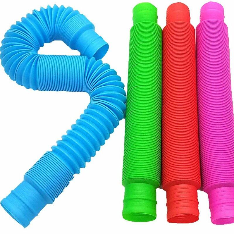 لعبة صغيرة من أنابيب البوب الحسية للكبار تململ الإجهاد تخفيف اللعب طفل التوحد مكافحة الإجهاد البلاستيك منفاخ الأطفال ضغط لعبة