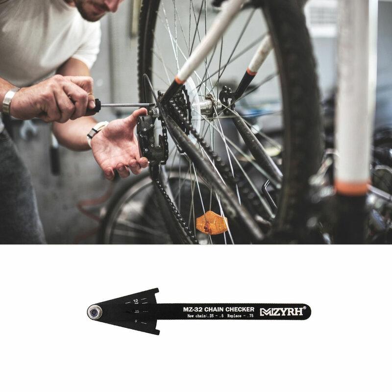 دراجة عالية الجودة سلسلة الدراجة مدقق ارتداء مؤشر قياس أداة دائم المحمولة قياس إصلاح مدقق أدوات في الأوراق المالية
