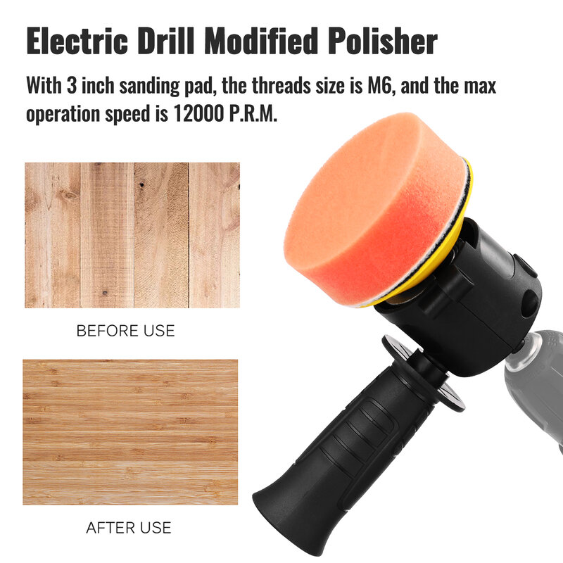Electric Drill Modified Polisher Refit Eccentric Shock Polishing Tool Accessories Polisher Convenient Practical Refit Tools