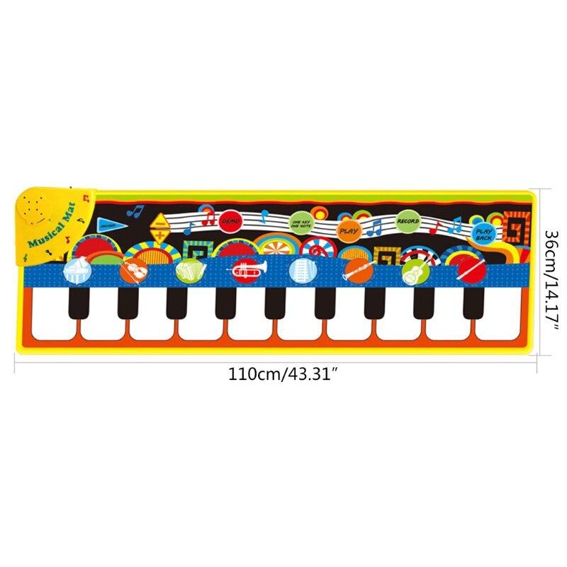 الأطفال نابض بالحياة الأجهزة التعليمية الجدة البيانو طقم سجادة/ حصيرة اللعب