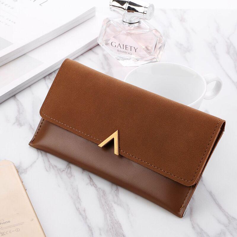 سستة المرأة المحفظة محفظة للعملة لسيدة رسالة جلدية محافظ غلق بمشبك المال أكياس حاملي بطاقة حقيبة يد جيوب الفتيات حقائب يد