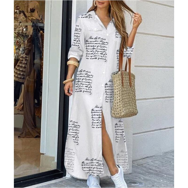السيدات الصيف قميص غير رسمي تنورة طويلة بلون إلكتروني الطباعة التعادل صبغ نصف كم فستان البوهيمي فضفاض شاطئ عطلة نمط