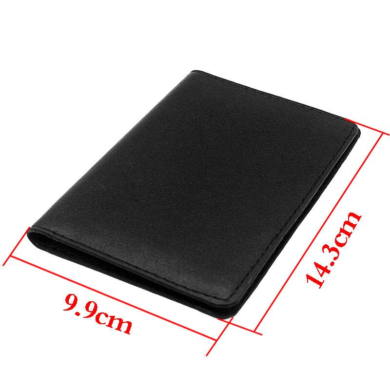 خمر الصليبيين ديوس فولت تصميم الجلود غطاء حامل جواز سفر معرف حافظة بطاقات الائتمان محفظة سفر