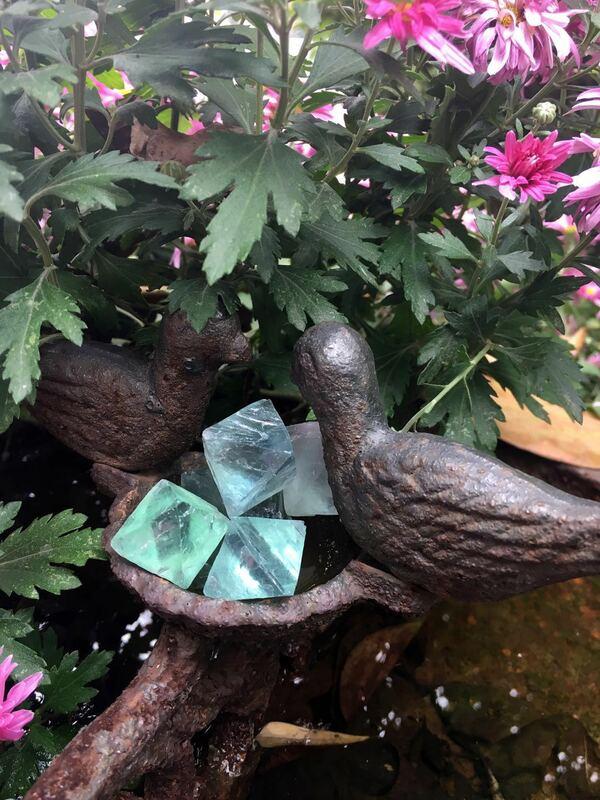 الفلوريت الأخضر الطبيعي ثماني السطوح كريستال نقطة الخام الأحجار الكريمة زخرفة قصب الديكور حجر جمع بلورات الحجر المعدنية