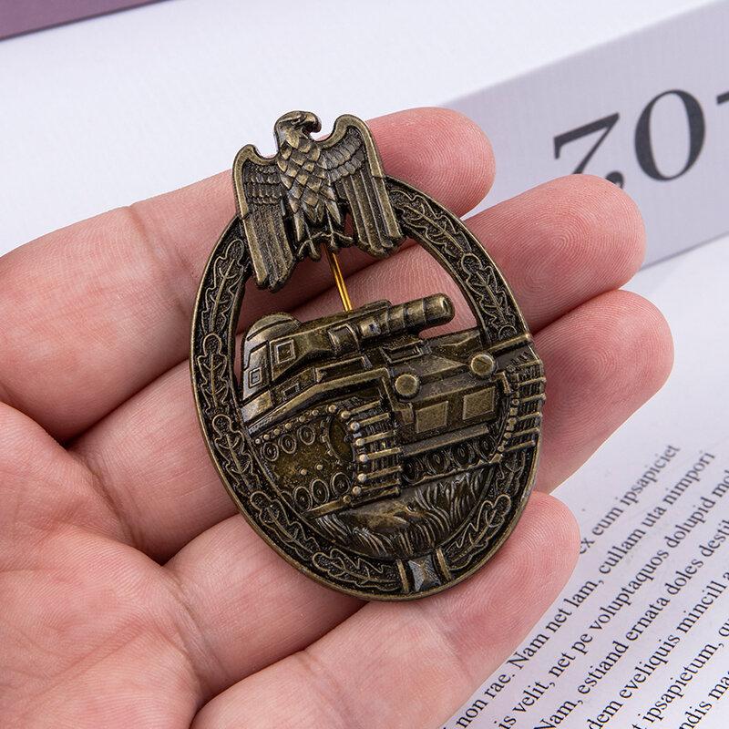 الحرب العالمية الثانية الألمانية المدرعة تانك بروش النسر الإمبراطوري البرونزية شارة تذكارية
