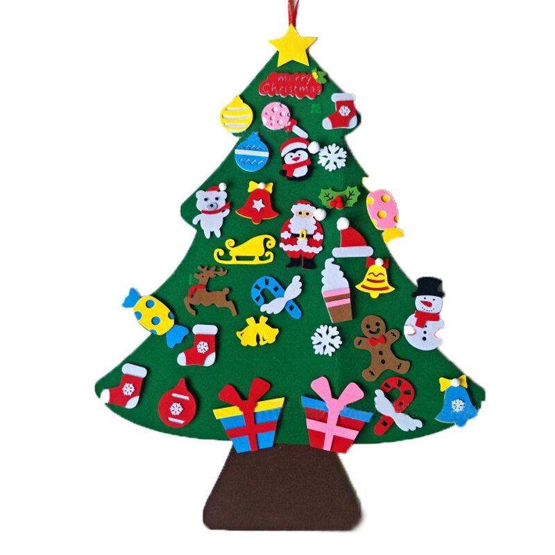 الطفل لعبة مونتيسوري 32 قطعة لتقوم بها بنفسك شعرت شجرة عيد الميلاد الصغار مشغول مجلس شجرة عيد الميلاد هدية لصبي فتاة باب الجدار زخرفة الزينة