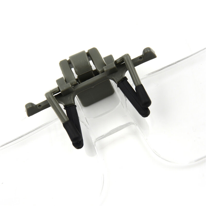 عدسة مكبرة شفافة قابلة للطي بدون استخدام اليدين ، أداة إصلاح الساعة ، عدسة عالية الدقة ، مجوهرات دقيقة