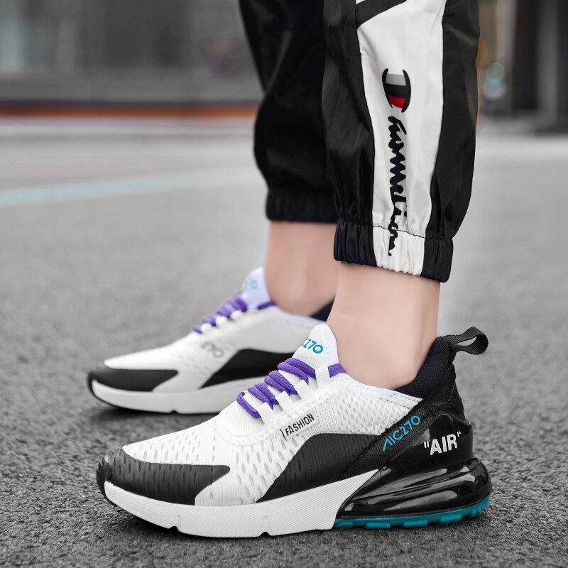 أحذية رياضية نسائية مبركن ، أحذية رياضية شبكية مع توسيد هوائي ، مجموعة جديدة