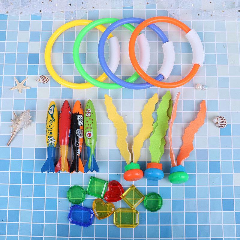 19 لعبة حمام سباحة تحت الماء ، مجموعة من 19 قطعة ، لعبة تفاعلية بين الوالدين والطفل ، تدريب الغوص ، لعبة مائية للأطفال