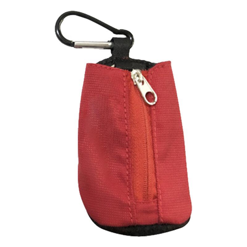 مع مشبك في الهواء الطلق الرياضة الخصر الحقيبة معلقة كرة جولف حقيبة حامل دائم سستة إغلاق الملحقات تحمل هدية البوليستر