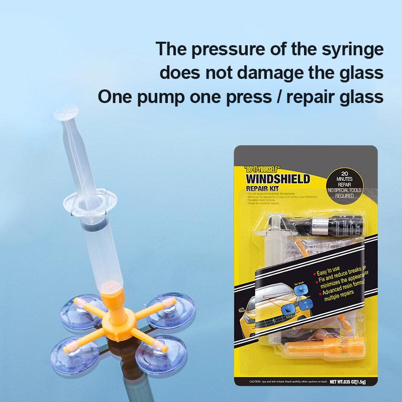 مجموعة أدوات إصلاح الزجاج الأمامي للسيارة ، مجموعة أدوات إصلاح الزجاج الأمامي للسيارة مع ضوء الأشعة فوق البنفسجية ، DIY ، جديد