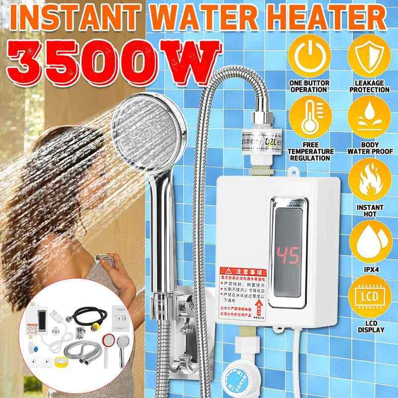 3500 واط الكهربائية المطبخ دش مسخن للمياه لحظة صنبور الماء الساخن سخان الباردة التدفئة صنبور Tankless لحظة سخان المياه