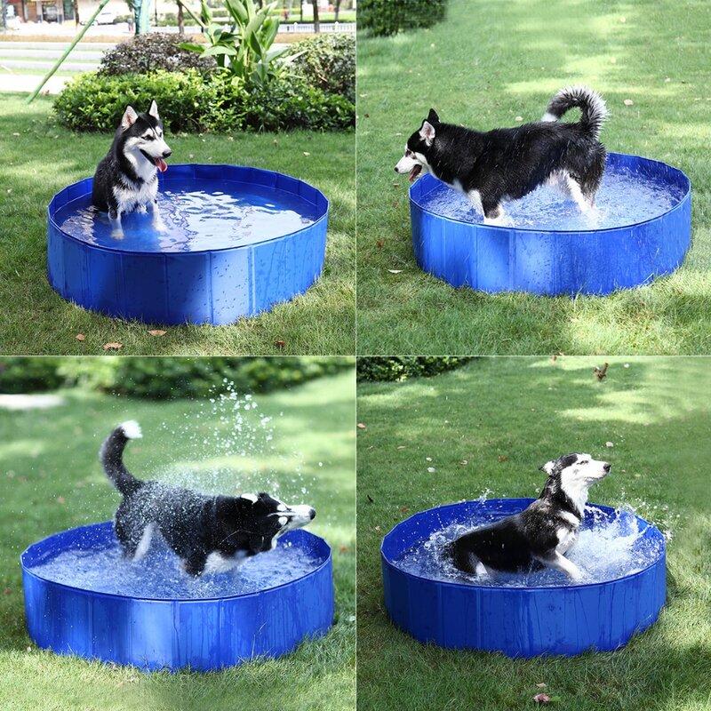 طوي الكلب بركة الحيوانات الأليفة حمام السباحة حوض الاستحمام في الهواء الطلق داخلي قابل للطي حمام سباحة للكلاب القطط حمام سباحة للأطفال