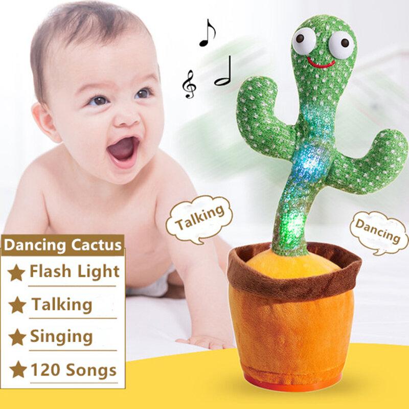 الرقص الصبار الإلكترون ألعاب من نسيج مخملي لينة أفخم دمية الأطفال الصبار طفل التي يمكن الغناء والرقص صوت التفاعلية بليد ستارك سيبيس