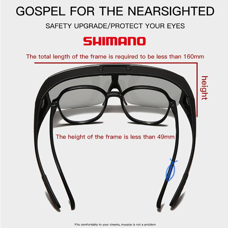 Sheman Flip الاستقطاب النظارات الشمسية الرجال الصيد القيادة UV400 عدسة متلوّنة بالضوء الصيد الرياضة في الهواء الطلق السيدات الصيد النظارات الشمسية