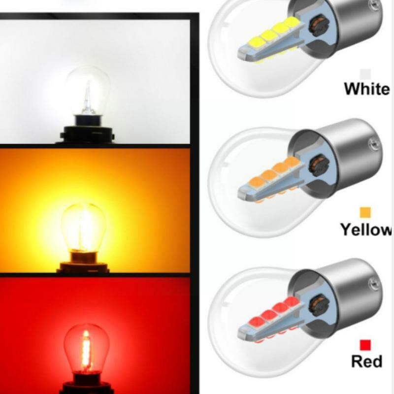 سيارة LED زجاج مصباح الفرامل 1156 1157 3030 16SMD عكس يمكن اختيار بدوره نموذج 6 مصباح إشارة L0N4