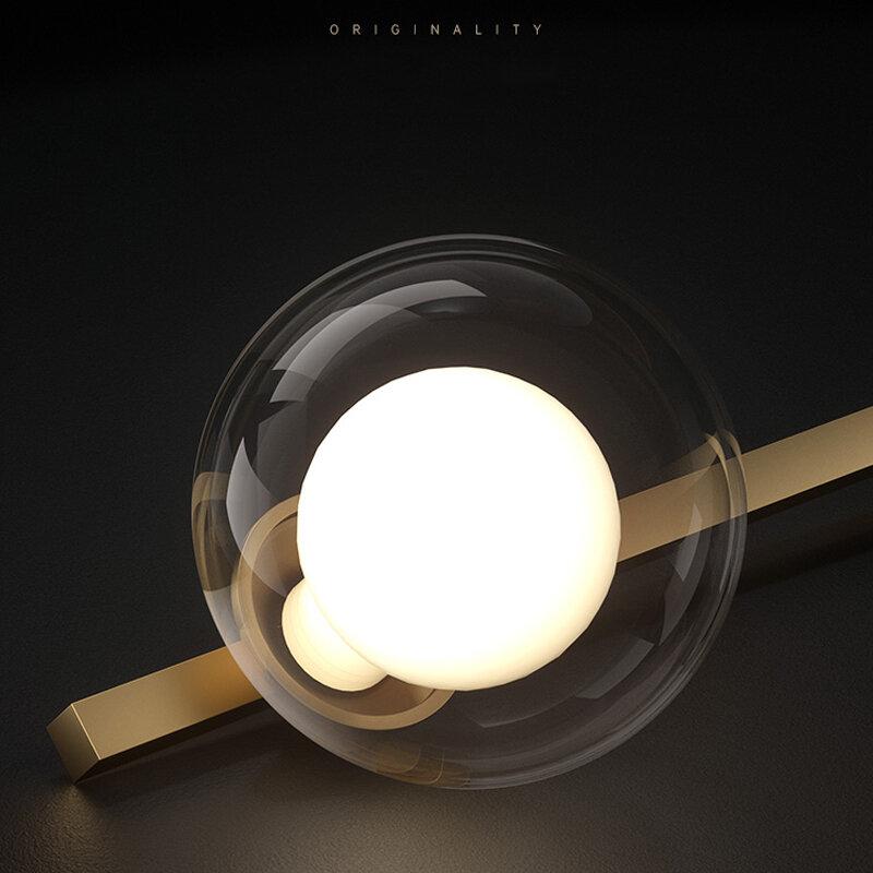 الشمال غرفة الطعام نجفة زجاج حديث الكرة الثريا لمتجر المنزل تجهيزات مصابيح ليد داخلي/تعليق