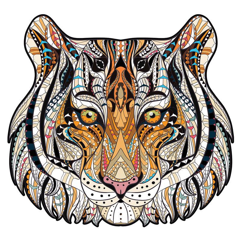 خشبية لغز فريد النمر الحيوان للاهتمام خشبية لغز هدية للكبار والأطفال هدايا عيد الميلاد ألعاب تعليمية لعبة