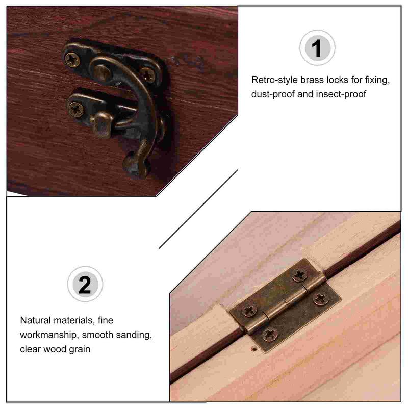 1 قطعة صندوق تخزين ديكور خمر الخشب المنظم علبة التعبئة والتغليف مع مشبك