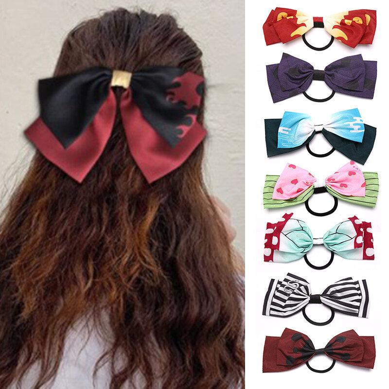 موضة جديدة 1 قطعة عقال الفتيات القوس زهرة Scrunchy تصفيف الشعر اكسسوارات للنساء العصابات الشعر الحلي
