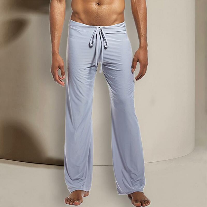 بنطلون بيجامة برباط ، خصر منخفض ، تصميم غير رسمي ، مثير ، ملابس نوم طويلة ، للأنشطة الخارجية