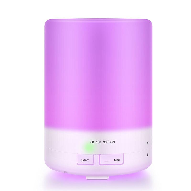 ناسفة ملونة بالموجات فوق الصوتية الروائح آلة 300 مللي أسطواني مرطب للعلاج بالروائح دون الطباعة المرطب